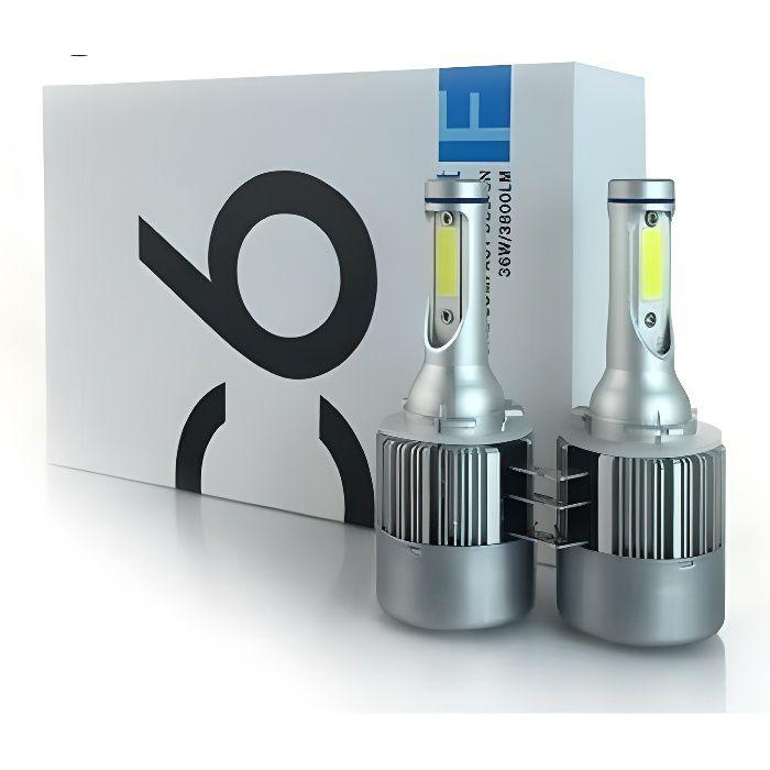 Kit Ampoule H15 LED Blanc Xenon 72W 6000K Feux route Diurne DRL Antibrouillard