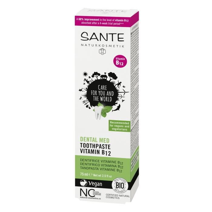 SANTE Dentifrice Vitamine B12 - 75 ml