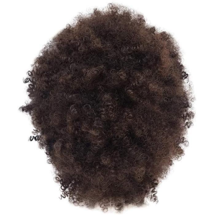Perruque Femme Courte Naturelle Perruques BoucleacuteEs SyntheacuteTiques Brunes Pour Femmes Afro Courte Perruque Afro-Naturelle B