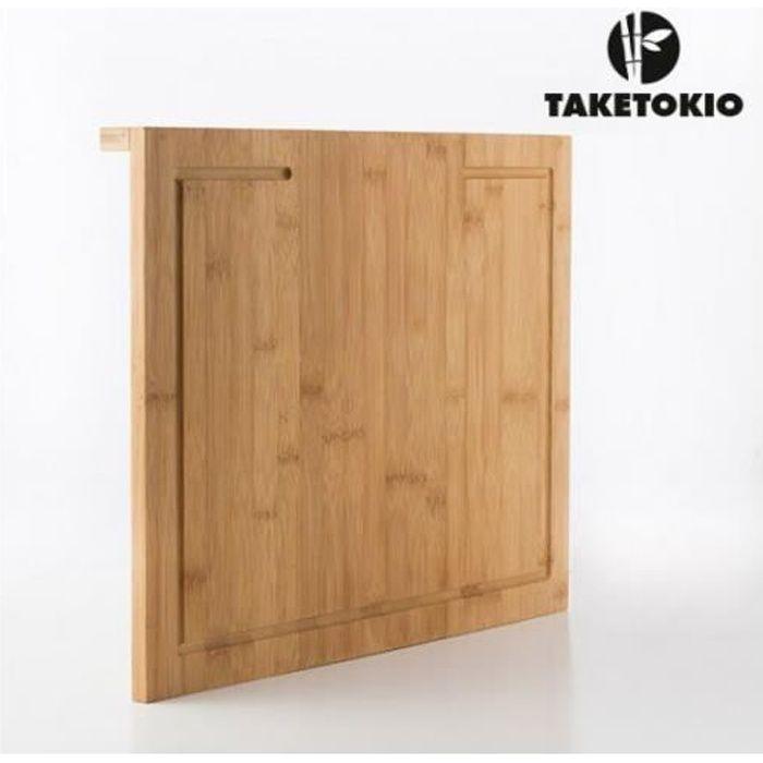 Planche à découper en bois avec rebord pratique