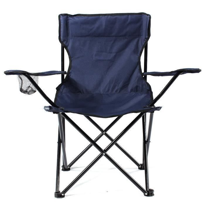 Chaise de camping pliable fauteuil de plage extérieur KING DO WAY Cyan At55195