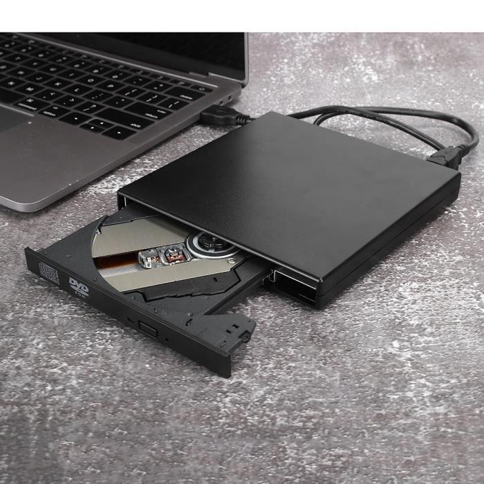 Graveur DVD USB Lecteur Optique Externe Accessoire d'Ordinateur Portable de Bureau pour Windows XP/8/Vista