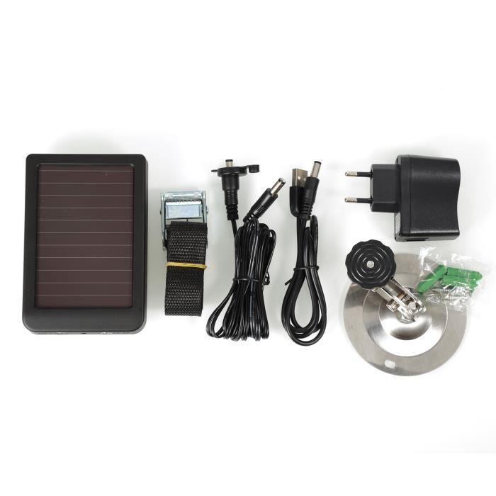 Chargeur panneaux solaires Batterie pour caméra de chasse pour SUNTEK HC-300M HC-300A HC-500M