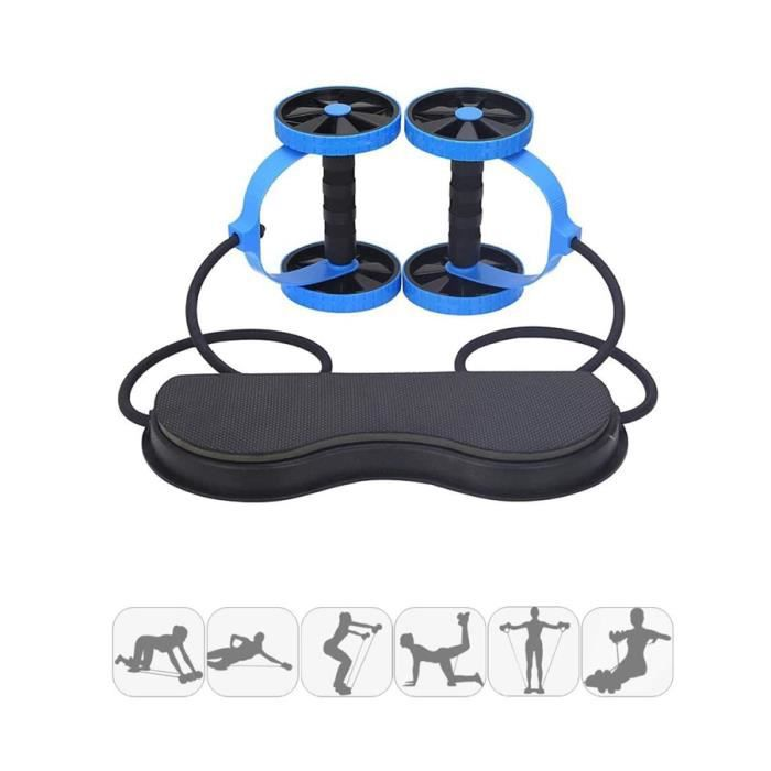 Roue Abdominale Roller De Fitness Exercice Multifonctionnel-Puissance Formateur Taille Slimming Exerciseur pour Fitness Exercices