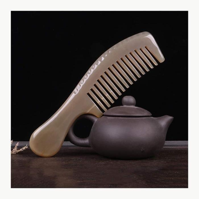 Peigne agrave cheveux mariage Peigne peigne agrave dents peigne de corne naturelle multifonction antistatique pour tous les t[149]