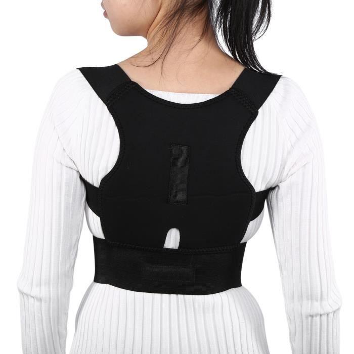 Tbest ceinture dorsale Nouvelle bande de ceinture d'épaule de soutien de taille lombaire à posture respirante réglable (M)