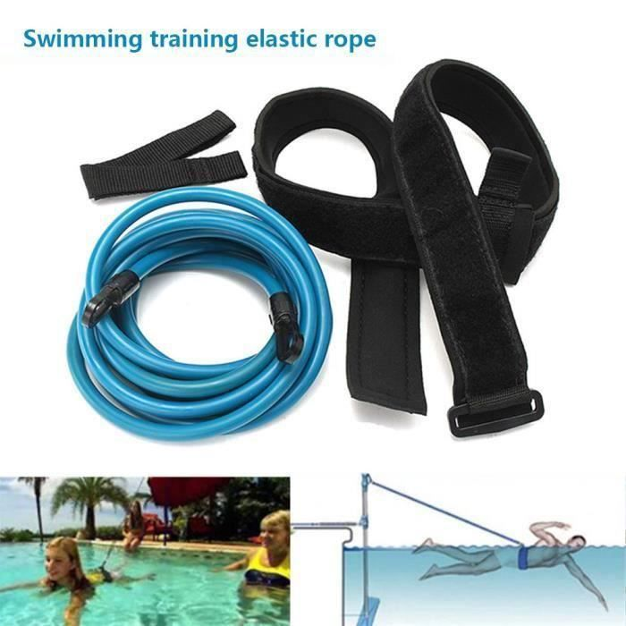 Ceinture de natation entraînement cordon élastique force Résistance pour saut Sécurité Attache piscine LIA13089