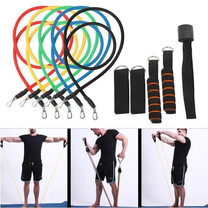 YOSOO Corde de traction élastique 11 Pcs / ensemble Élastique Fitness Tirant Corde Multifonctionnel Gym Équipement Bandes De