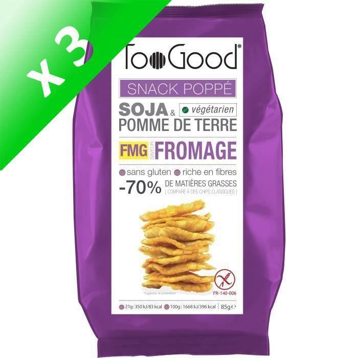 [LOT DE 3] Toogood biscuits apéritifs saveur Fromage 85g