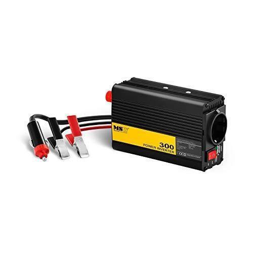 MSW Onduleur Voiture Convertisseur Transformateur Auto Automobile MSW-CPI300PSL (Sinus Pur, 12V/230V, 300W, USB, Branchement