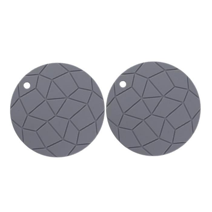 Napperon en silicone isolation thermique épaissir tapis de bol antidérapant rond pour restaurant de ASSIETTE - PLATEAU REPAS