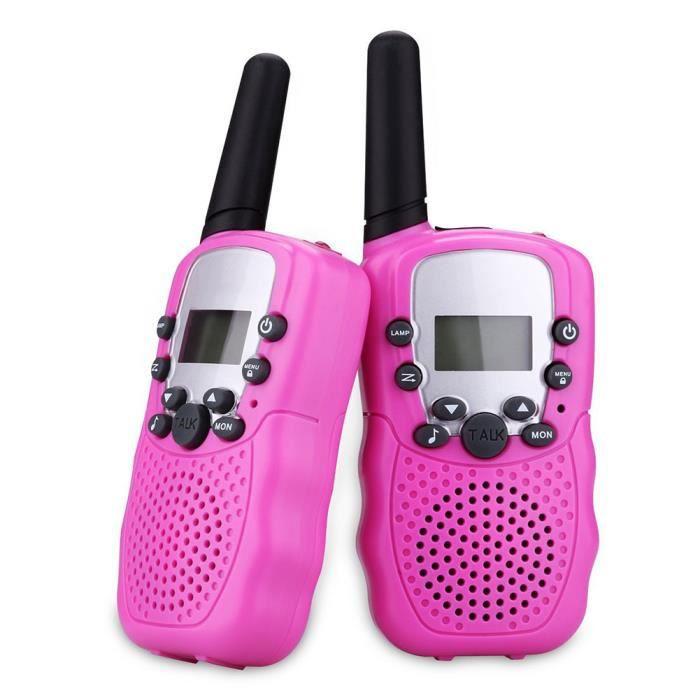 2 pièces talkie-walkie sans fil jouet interaction parent-enfant enfants longue distance parent-enfant talkie-walkie-rose