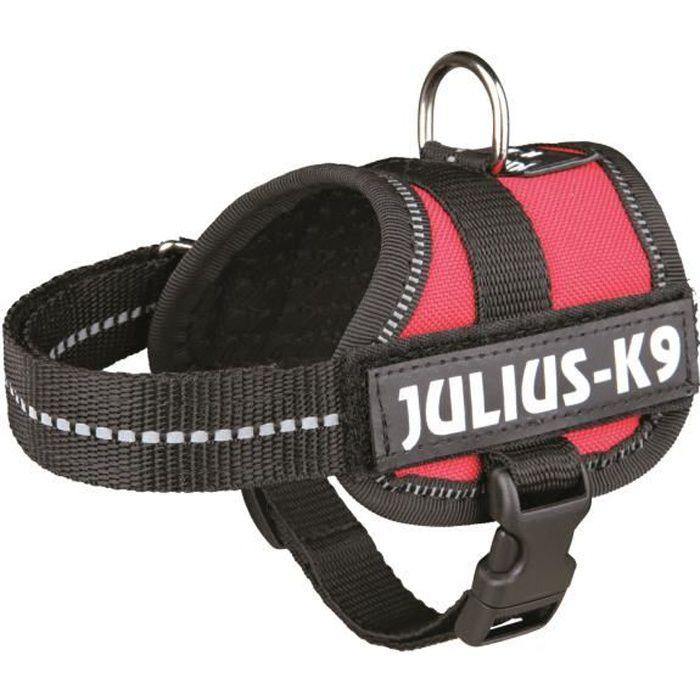 Harnais Power Julius-K9 - Baby 1 - XS : 30-40 cm-18 mm - Rouge - Pour chien