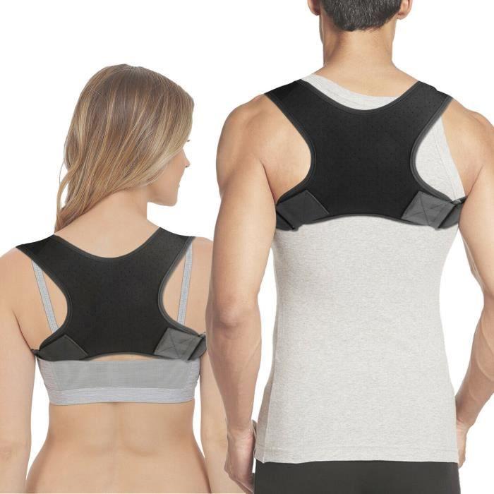 Ceinture de correction anti-dos à bosse Ceinture de correction pour dos adulte Bretelles respirantes ajustables pour posture