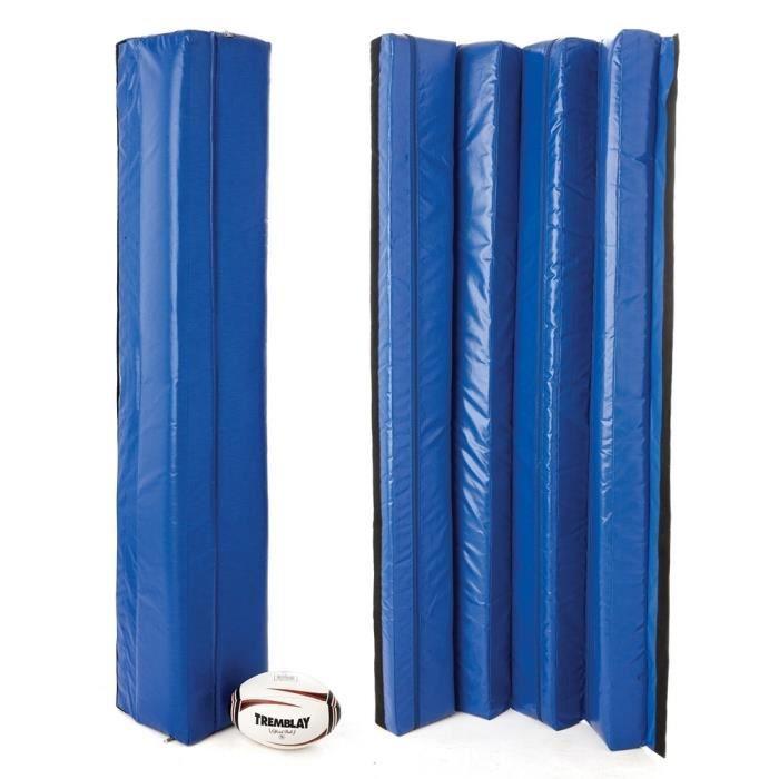Protection de poteau de rugby - Hauteur : 2 m.Taille extérieure : 30 x 30 cm