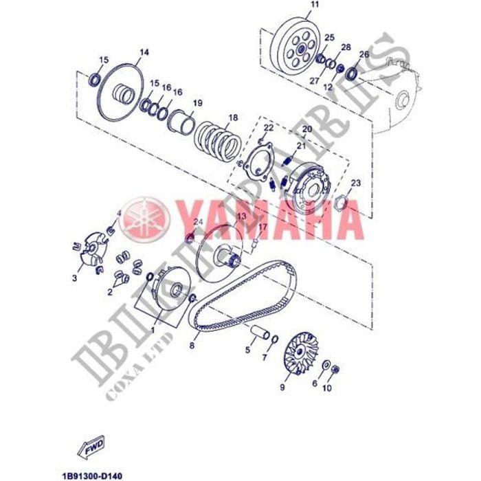 Yamaha 1B9-E7632-10 - 6 x Galets origine - X-max 125 2014-16