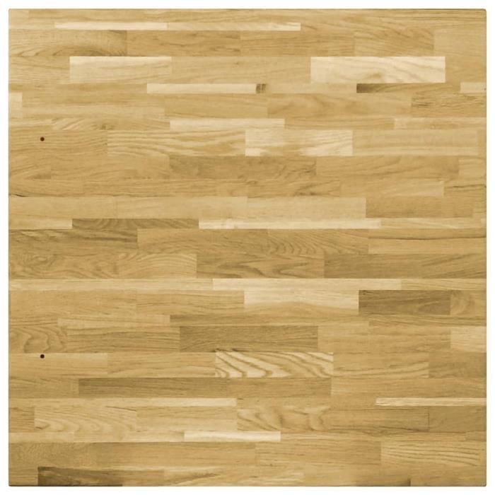 ZJCHAO Dessus de table/Plateaux de table - Bois de chêne massif - Carré - 44 mm 80x80 cm