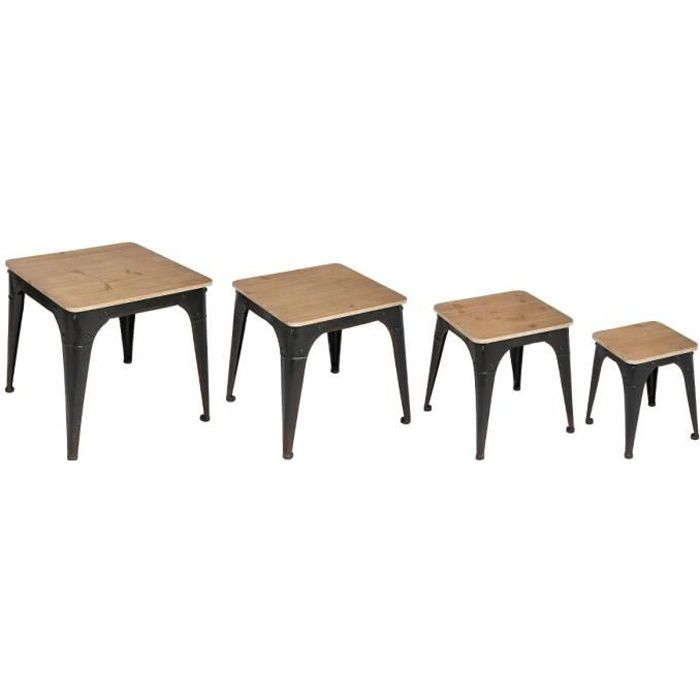 table gigogne industrielle achat vente table gigogne industrielle pas cher cdiscount. Black Bedroom Furniture Sets. Home Design Ideas