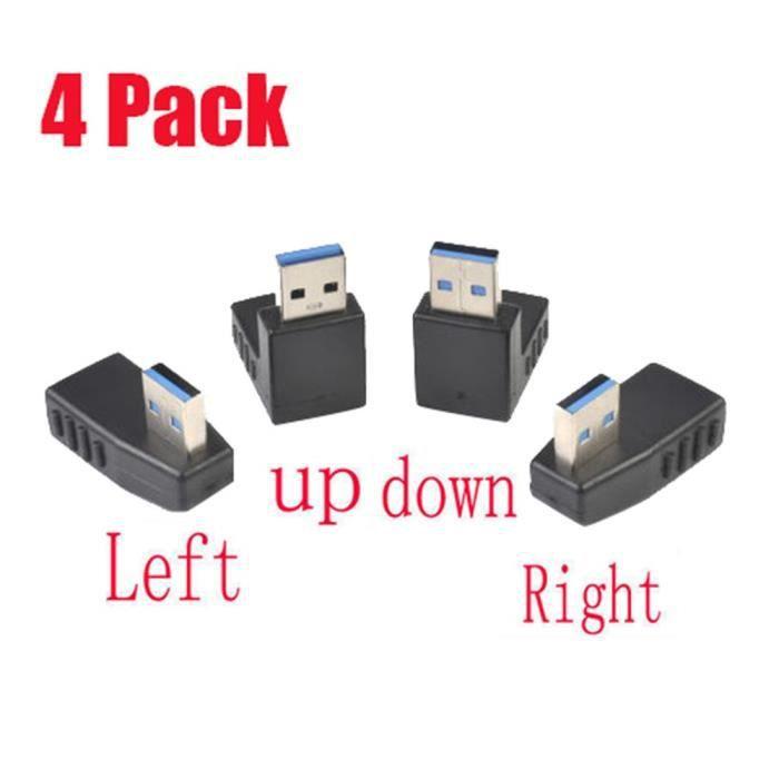 CÂBLE RÉSEAU  4 Pack USB 3.0 A mâle vers femelle câble d'extensi