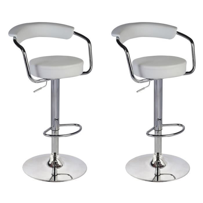 lot de 2 tabourets de bar cuisine hauteur r glable achat. Black Bedroom Furniture Sets. Home Design Ideas