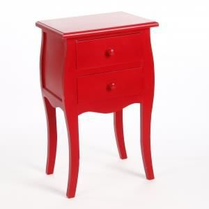 Table de nuit bartok couleur rouge achat vente for Modele table de nuit