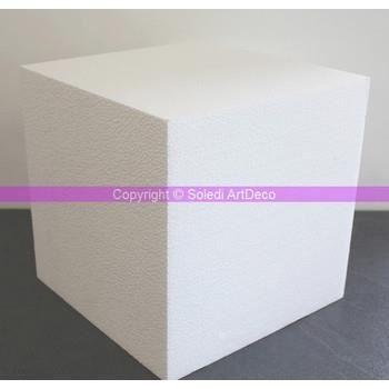 Support à décorer Cube en polystyrène 30 x 30 x 30 cm, Polystyrèn...