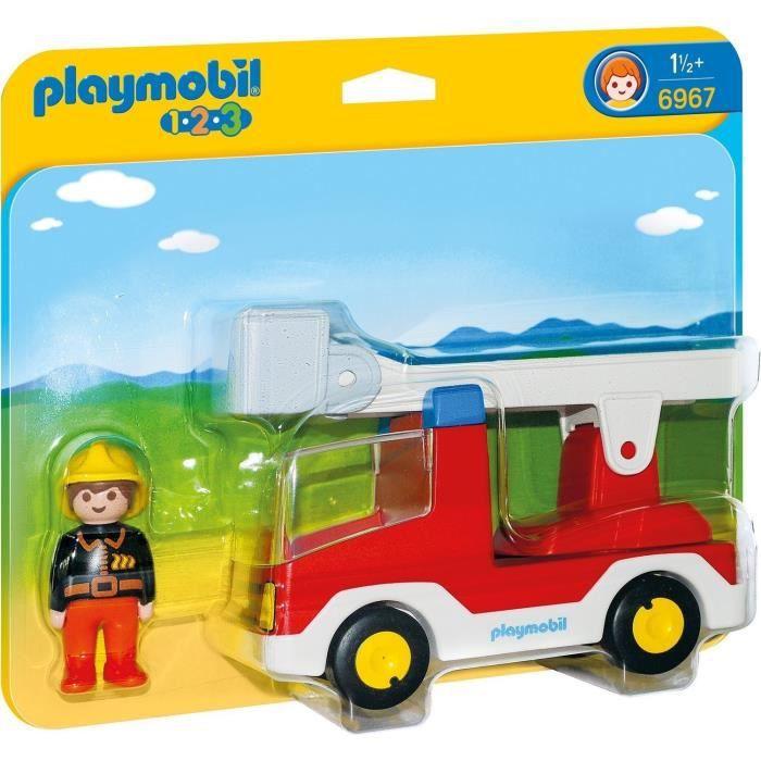 UNIVERS MINIATURE PLAYMOBIL 6967 - PLAYMOBIL 1.2.3 - Camion de Pompi