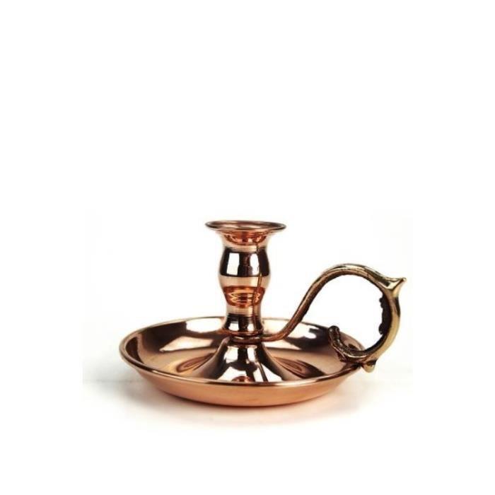 CopperGarden Bougeoir antique en cuivre