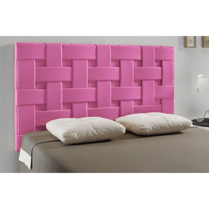t te de lit tress pu couleur rose mesure lit de. Black Bedroom Furniture Sets. Home Design Ideas