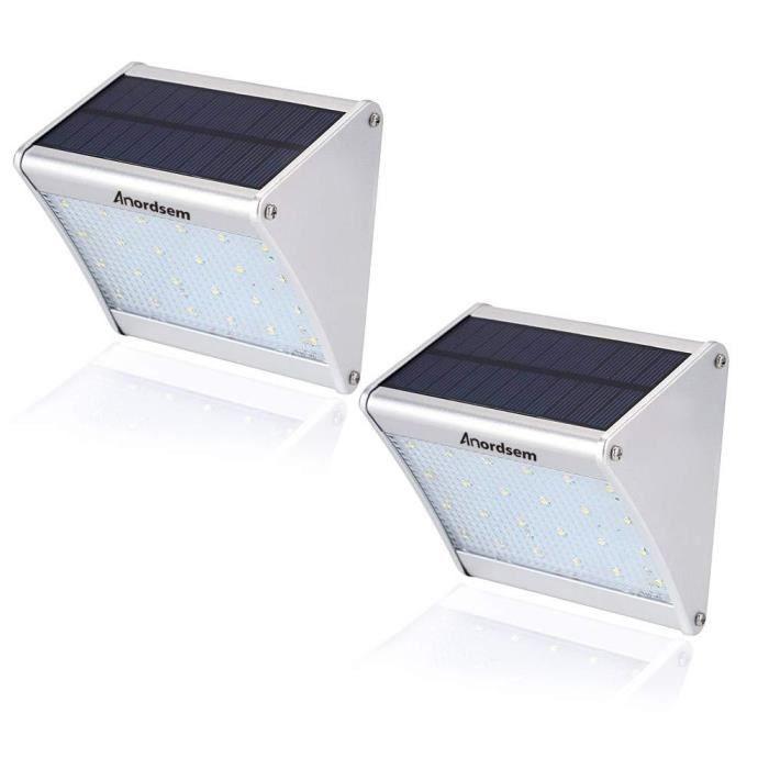 Extérieur Lampe solaire étanche en alliage d/'aluminium boîtier capteur radar Lumière