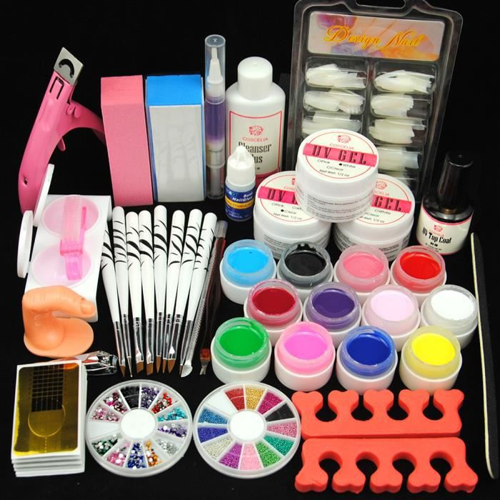 kit manucure ongles uv gel couleur decor brosse outils manucure kit achat vente coffret de. Black Bedroom Furniture Sets. Home Design Ideas