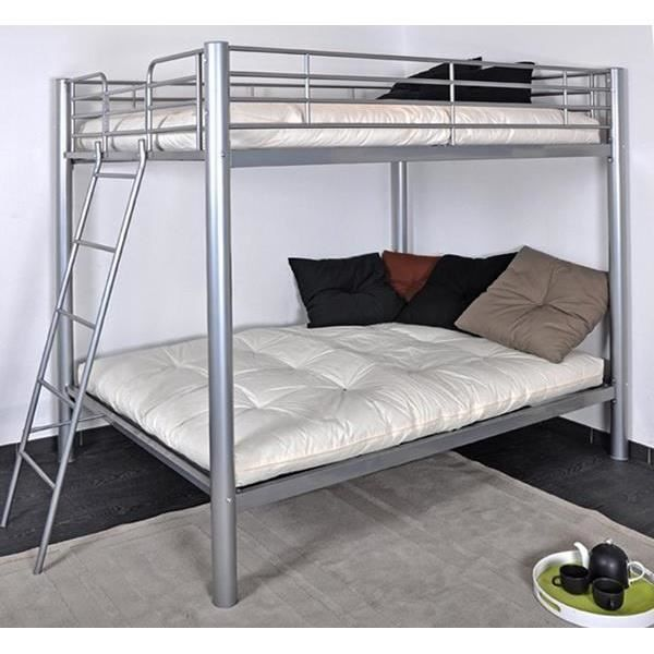 Lit superpos s 4 place colosse gris achat vente lits - Lit superpose 2 places ikea ...