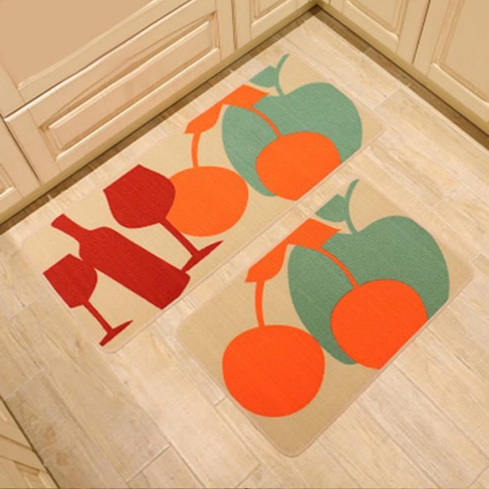 tapis de cuisine orange tapis with tapis de cuisine orange top tapis de cuisine originaux zone. Black Bedroom Furniture Sets. Home Design Ideas