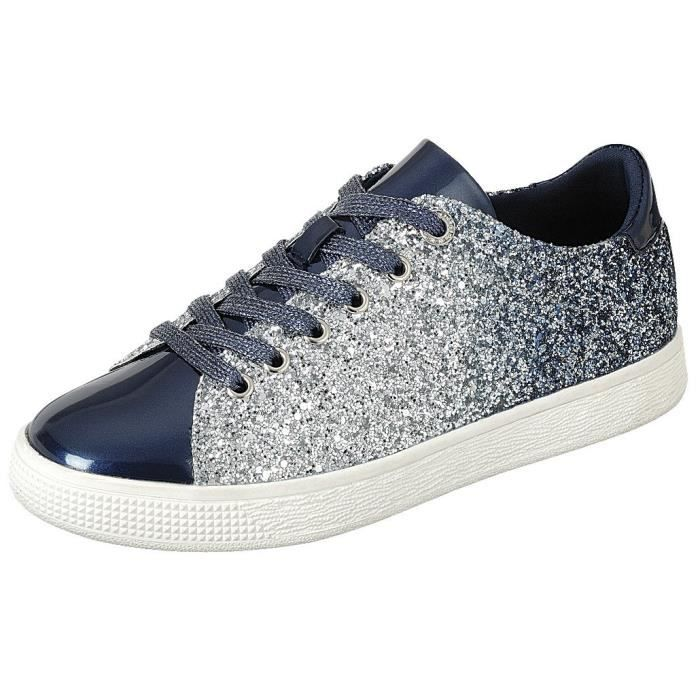 Lace Glitter Closed Fashion Bnfb0 Flatform 39 Ombre Women's Toe Round up Sneaker Taille 6xwWYqd6FZ
