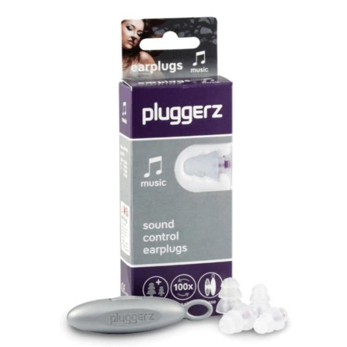 BOUCHONS D'OREILLES Protection auditive Pluggerz Music