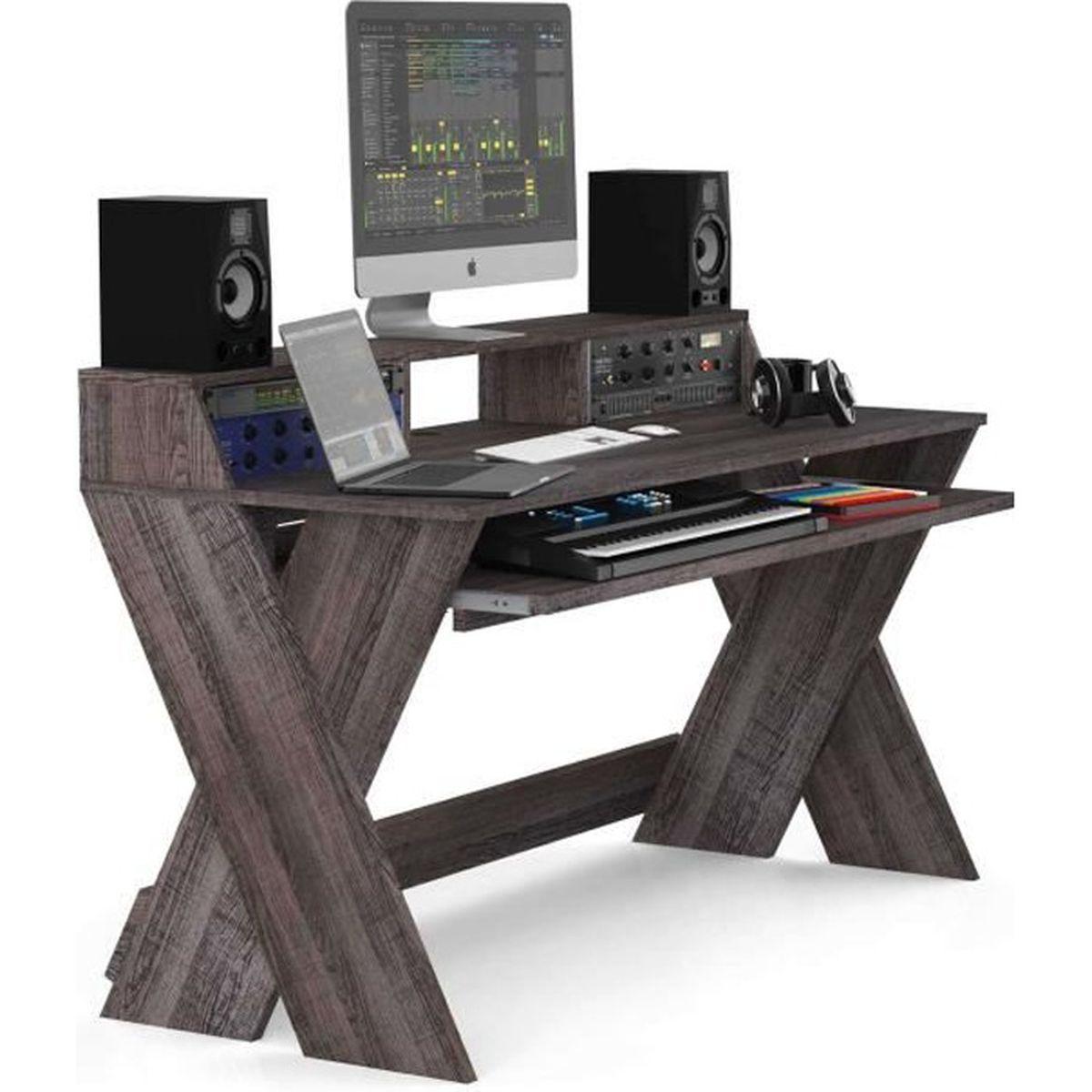 Glorious Sound Desk Pro Walnut Mobilier Pour Dj Mobilier Home Studio Avis Et Prix Pas Cher Cdiscount
