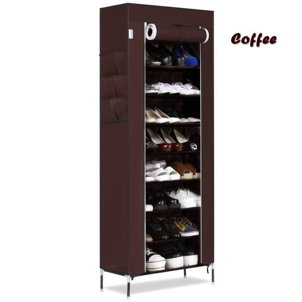 meuble chaussure rangement chaussure 10 niveaux chaussures stockage organisateur tag re. Black Bedroom Furniture Sets. Home Design Ideas