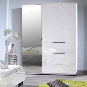 ARMOIRE DE CHAMBRE Armoire 3 portes et 2 tiroirs 162 blanche - MAKRO