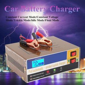 CHARGEUR DE BATTERIE 12V-24V 10A Intelligent Chargeur de Batterie Voitu