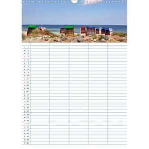 Calendrier Photo A3.Calendrier Bleu Mer Plus Portrait A3