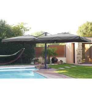 PARASOL DCB GARDEN Parasol Ibiza avec 2 toiles de 3x3 m en