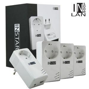 COURANT PORTEUR - CPL INSTAR 4 Adaptateurs CPL IN-LAN 500P 500Mbps Blanc