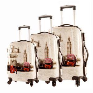 SET DE VALISES Lot de 3 valises rigides Merveilles du monde Dark
