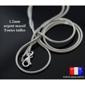 CHAINE DE COU SEULE collier chaine de cou en argent massif 925 maille