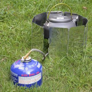 CLÔTURE - GRILLAGE OUTAD® 9 assiettes pare-brise pliantes camping piq