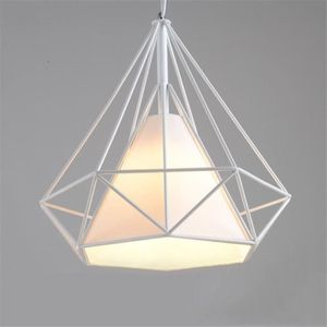 LUSTRE ET SUSPENSION Suspension Industrielle Vintage forme Cage Diamant