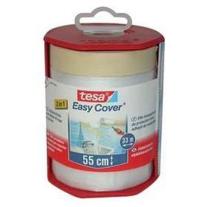 b/âche + ruban de masquage Tesa 59179-00003-02 D/érouleur Easy Cover Premium L, 33m x 1400mm Transparent