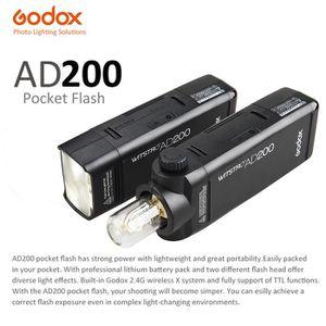 FLASH Godox AD200 Mini TTL Flash avec 2 Tête de lumière