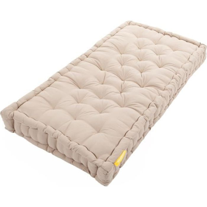 matelas de sol coton 60x120x15cm lin achat vente coussin cdiscount. Black Bedroom Furniture Sets. Home Design Ideas