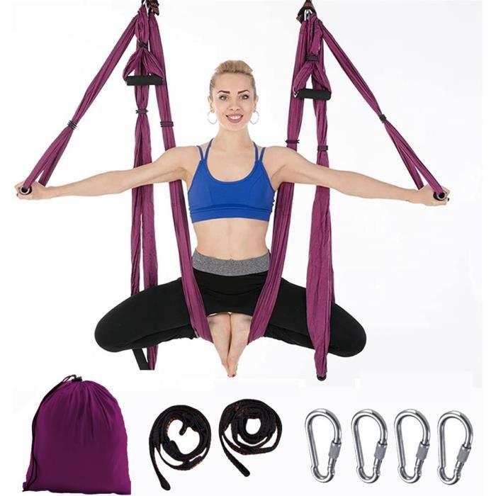 Inversion de Yoga Balançoire Anti-gravité d'air Elastique Swing Hamac Sling Kits de Yoga Pilates Équipements de Danse Aérienne Balan